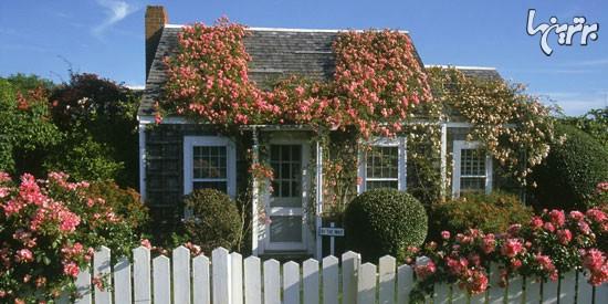 زیباترین دکوراسیون بهاری برای درب وروردی منزل